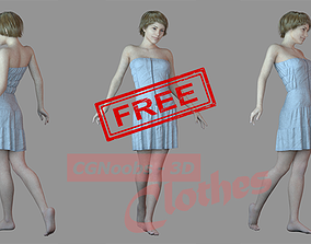Free Women Casual Dress - 43 Marvelous Designer and Clo3D