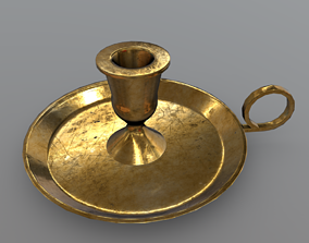 Candle Holder 3D asset game-ready