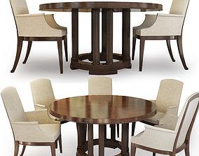 3D model Round Dining Table Bridgeton Century