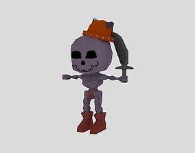 Skull made in blender 3D model