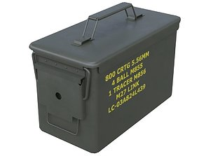 Ammunition Box 1 New 3D asset low-poly