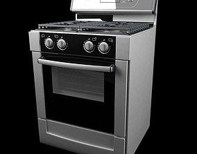 3D Grey Kitchen Cooker