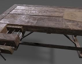 Wood Workbench 3D model