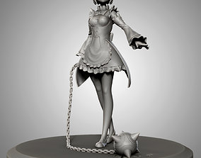 Rem with ball and chain for 3d print girl