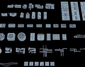 Sci-Fi Greeble Kitbash 3D model