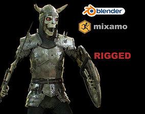 skeleton 3D asset rigged realtime