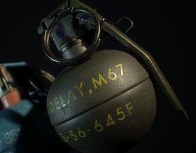 M67 Fragmentation and M69 Practice Grenades 3D asset