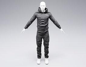 3D model fashion Cyberpunk jacket and pants
