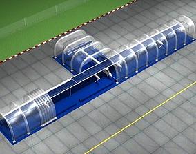 Solar impulse with inflatable hangar 3D