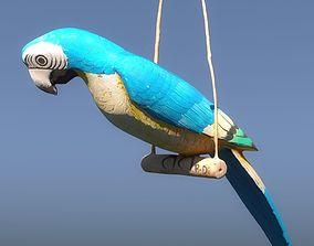 3D PBR Vintage wooden parrot Gobi