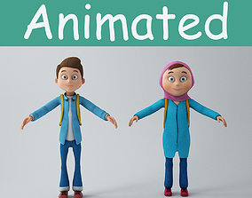 Game Characters child 3D model animated