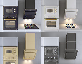 Kitchen appliances Midea in neoclassical style 3D model