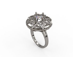 3D printable model Woman Solitaire Ring 162