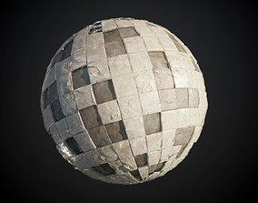 Damaged Wall Tiles Seamless PBR Texture 3D model