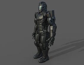 Robot soldier 3D asset