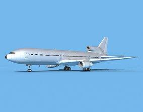 3D model Lockheed L-1011 TriStar Bare Metal