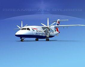Dornier 328-130 British Airways 3D model