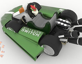 3D print model Bowser Kart Nintendo Switch Joy Con 1