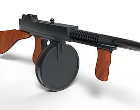 3D model realtime Thompson submachine gun