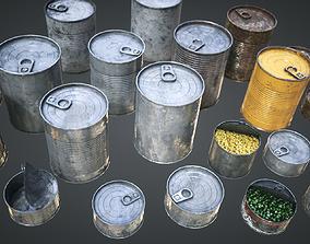 Cans Pack 3D asset