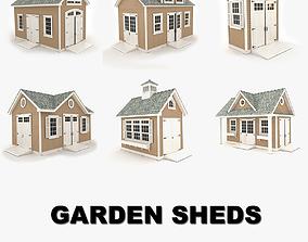 3D Garden sheds collection vol 1