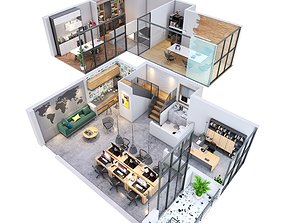 Office apartment 3D model