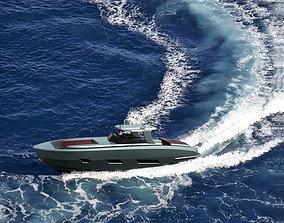 rigged Open Yacht Luxury Model