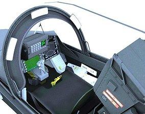 JAS-39 Gripen Cockpit 3D model animated