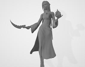 Female High Elf Wizard 3D Model