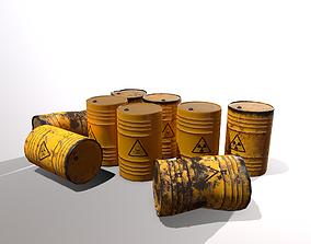 3D model Toxic waste barrels