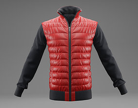 Winter jacket Red 3D model game-ready