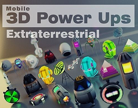 3D model animated realtime Extraterrestrial Pack