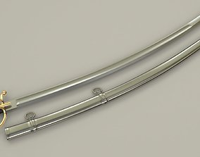 Cavalry Saber 3D asset