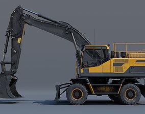 Excavator EW205D 3D asset game-ready