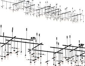 3D model Suspenders Gallery Multi Light Pendant