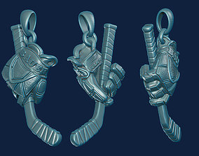3D printable model Hockey Pendant