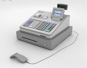Cash Register Gray 3D model