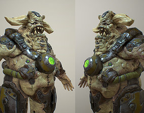 Demon soldier 3D model