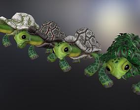 3D model Fantasy turtle pack