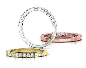 Anniversary Ring Stacking Band ring 3dmodel 4prong