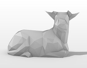 3D print model Calf Low Poly