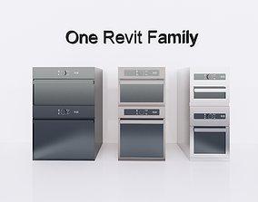 3D model Microwave or Oven - Full parametric Revit Family