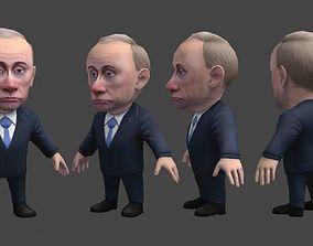 3D asset Chibii politicians - Putin - ver1