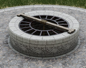 3D model realtime Medieval Well