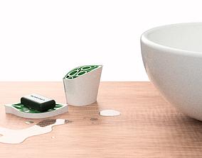 Bathroom nature Kit 3D print model green