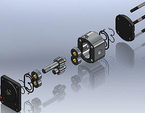 Hydraulic pump 3D