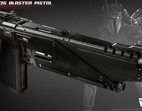 3D print model WESTAR 35 blaster pistol