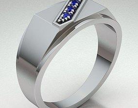 personalized gemstone 3D printable model Ring Man