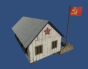 Soviet Barracks from World War 2 3D model