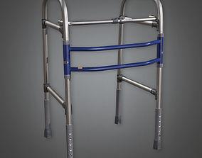 3D model Medical Walker Metal HPL - PBR Game Ready